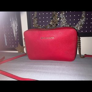 MK crossbody in red